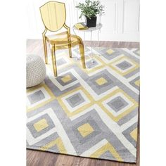 nuLOOM Handmade Geometric Triangle Grey Rug (5' x 8') - Overstock™ Shopping - Great Deals on Nuloom 5x8 - 6x9 Rugs