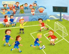 Soccer Drawing, Sequencing Pictures, Picture Composition, 4th Grade Art, Teaching Materials, Art Lesson Plans, Kids Education, Games For Kids, Art Lessons