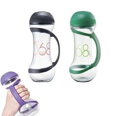 Dumbbell Shape Fitness Water Bottle Sports Cycling Hiking Exercise Mixer Shaker
