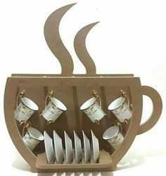 Best 11 So cute! Coffee cup shaped storage for your coffee cups and saucers
