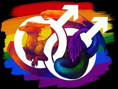 Gay pride dragon! This is for all my homo homies. Credit to kaenith.tumblr.com