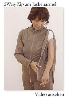 GANESHA Wohlfühlanzug für Reha und Klinik - ein Wohlfürhlanzug für einfacheres Pflegen (Zipp am Ärmel, diskrete Tasche für Harnbeutel, ...)