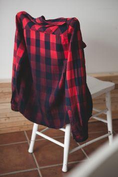 DIY dip dye plaid shirt