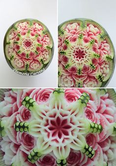 a fruit was carved with only a knife. Check out another works → http://www010.upp.so-net.ne.jp/plumeria/htm/works.htm (Plumeria Fruits and Soap Carving in Tokyo, Japan)