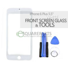 "iPhone 6 Plus 5.5"" White Front Screen Glass Replacement & Tools  #Apple #iPhone6Plus #FlexCables #EsquareParts #ReplacementParts #InternalParts #WhiteFrontScreenGlass #FrontScreens #ScreenGlass #RepairTools #Screwdrivers #SuctionCup #OpeningTools"