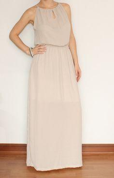 Long Blush dress Chiffon Maxi Dress Bridesmaid for Women on Etsy, $39.00