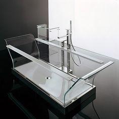 Novellini Cristal glass bathtub