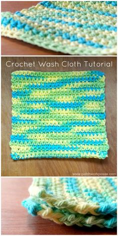 crochet wash cloth pattern free - so simple...I make these for fun presents.  Make a bunch at one time.
