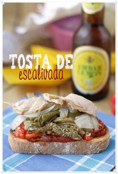 Tosta de escalivada {by Paula, Con las Zarpas en la Masa}