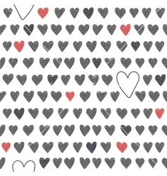Cute seamless pattern with grey and red hearts vector - by saenal78 on VectorStock®