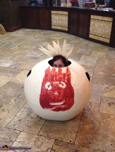 Devon: I am wearing the costume. The idea came from watching Castaway for the first time with my husband. I decided that, for an inanimate object, Wilson sure is a lovable...