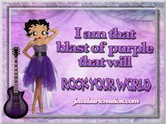 See the PicMix Betty boop belonging to Wolfjen on PicMix. Purple Love, Purple Hues, All Things Purple, Shades Of Purple, Deep Purple, Aqua Blue, Pink Purple, Purple Stuff, Betty Boop