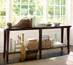 Metropolitan Long Console Table | Pottery Barn - 72 x 16 1/2 x 30