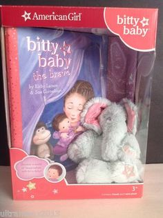 Bitty Baby's Mini Elephant and Book by Kirby Larson (2013, Kit)