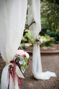Chiffon Drapes With Fresh Flowers