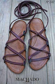 Machado Handmade sandals.  DIY them!