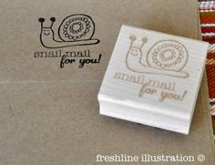 Custom Rubber Stamp - Snail Mail For You - Fun Stationery Stamp. $45.00, via Etsy.