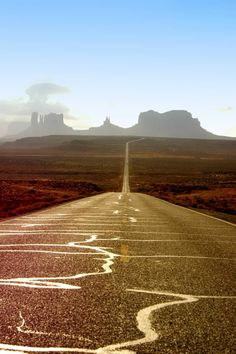 Monument Valley, UT - actually got down on the road and took this picture. Beauty.