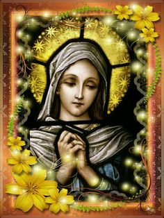 Virgin Mary Madonna, Mary And Jesus, Divine Mother, Art, Mosaic Art