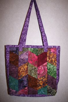 Batik Quilted bag by TheSewBug on Etsy, $40.00