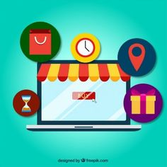 Shopping online concept