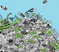 "This Hand-Illustrated Map of SF Is the Most Insanely Detailed Thing We've Ever Seen San Francisco --this hand-illustrated map of San Francisco by artist Jenni Sparks takes the cartography thing to a whole other level. [media-credit name=""Jenni Sparks"" align=""aligncenter..."