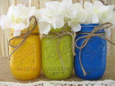 Mason Jars Decorative Mason Jars Citron by TheShabbyChicWedding, $24.00