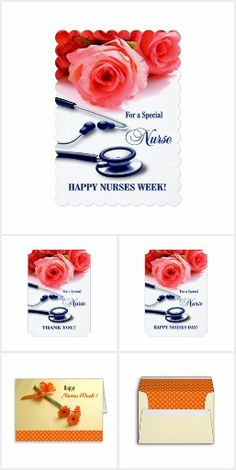 FLOWERS FOR NURSE. Floral design Nurses Day, Nurses Week, Thank You Nurse, Nurse Appreciation Greeting Cards and Gifts from the artofmairin store at zazzle.com