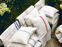 Reloved Rubbish: Mid-Week Design Inspiration: Grain Sack Upholstery...