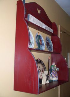 Simple beadboard shelf - don't care for the heart cut-out, but the shape and function of the shelf are great.