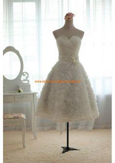 Moderne A-linie Schönes Brautkleid 2013 aus Chiffon mit Blumen