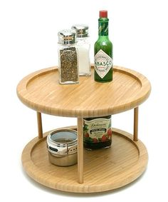 Love this Bamboo 10'' Two-Tier Lazy Susan on #zulily! #zulilyfinds