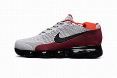 Zapatillas Hombre Nike Air VaporMax Gray Rojo #NikeVapormax Moda Nike, Air Max Sneakers, Sneakers Nike, Estilo Retro, Nike Air Vapormax, Gray, Shoes, Fashion, Shoes Sneakers