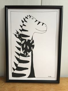 Excited to share the latest addition to my #etsy shop: Dinosaur Print, A4 print, dino art, kids room art, nursery decor, black and white dinosaur, Dinosaur art for kids