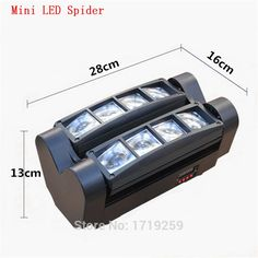 600.00$  Buy now - http://alihfe.worldwells.pw/go.php?t=32659358719 - 8pcs/lot Fast Shipping LED Spider Mini Wash 8x6w RGBW Quad with advanced 13/19 Channels Free Shpping