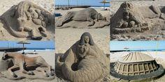 Sand art Durban - always something new . City By The Sea, Honeymoon Places, Kwazulu Natal, Sand Art, My Land, Beautiful Beaches, South Africa, Mount Rushmore, Tourism