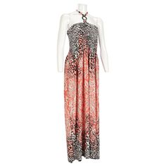 Mixed Animal Print Maxi Dress - Plus