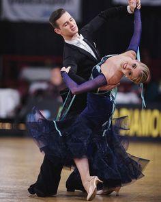 Beautiful midnight blue ballroom dress #ballroom #dance #dancesport