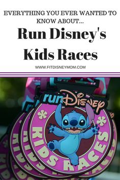 Tips for Run Disney kid's races at Walt Disney World and Disneyland.