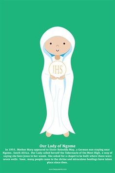 Happy Saints Mother Mary Posters: Happy Saints Our Lady of Ngome Poster, $5.00 from MagCloud