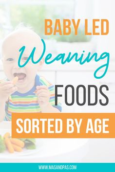 Looking for some easy and healthy meal inspiration for baby-led weaning or finger foods for toddlers? Here are some super easy baby led weaning first foods to start feeding your baby solid foods at 6 months old. Get started with baby led weaning and feeding your new baby. We break down baby led weaning foods by age and show which foods are the most appropriate for baby at each weaning stage, and which you should avoid altogether. #babyledweaning #babyledweaningideas Baby Led Weaning Breakfast, Baby Led Weaning First Foods, Weaning Foods, Baby Weaning, Gentle Parenting, Kids And Parenting, Parenting Hacks, Homemade Baby Snacks, Solids For Baby