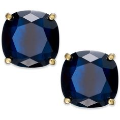 kate spade new york Square Stud Earrings ($38) ❤ liked on Polyvore featuring jewelry, earrings, jóias, navy, stud earrings, colorful stud earrings, earring jewelry, multi colored earrings and tri color earrings