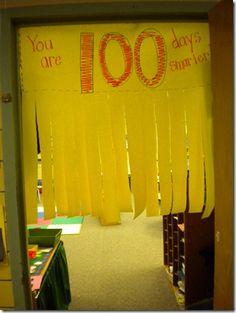 100th Day Decor...I cannot wait for the 100th day. I am doing almost everything on this page!