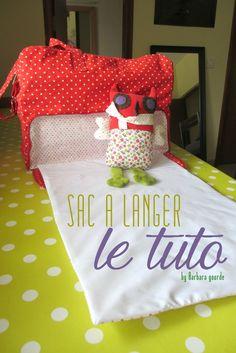 Tuto transformer sac week end en sac à langer avec tapis à langer intégré - By Barbara Gourde