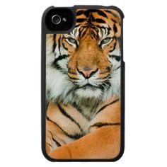 Orange Tiger iPhone 4 Case
