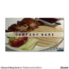 Get customizable Restaurant business cards or make your own from scratch! Premium cards printed on a variety of high quality paper types. Peking Duck, Business Cards, Food And Drink, Chinese, Restaurant, Store, Tent, Shop Local, Visit Cards