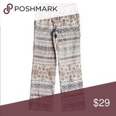 49728ba5f8 NWT Roxy Rainbow Bridge Lace Beach Pants Size XL Fabric: Mid-weight cotton  nylon