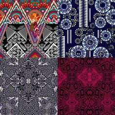 Tribeinspired Patternbank Studio Designs by: Mia Azarello, Velvetgoldmine, Simonetta De Simone, Carolyne Collins