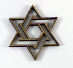 Modern Star of David ornament  - Reclaimed Urban Wood . eco Urban Timber