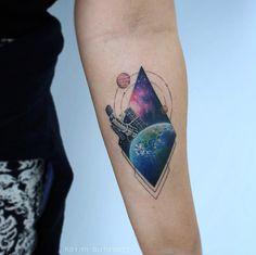 Hubble Space Telescope tattoo by Bryan Gutierrez